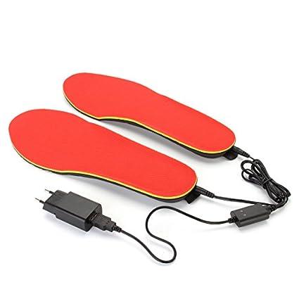 Alamor 3.7V 1200mAh eléctrico del zapato climatizada plantillas pie calentador calentador pies batería caliente calcetines