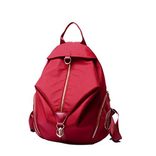 Mujer Clásico Todo Fósforo Tendencia Nuevo Moda Simple Paño De Nylon Bolsos Personalidad Gran Capacidad Bolso Red