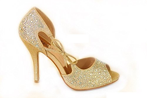 Schuhe Trüffel Kätzchen Rose Sparkle Gold A Abend T33 Silber Damen Braut Diamante Gericht Ferse SKO'S v5pxqwnXRP
