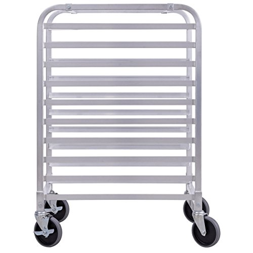 Giantex 10 Tier Aluminum Bakery Rack Home Commercial Kitchen Bun Pan Sheet Rack Mobile Sheet Pan Racking Trolley Storage Cooling Rack w/Lockable Casters by Giantex (Image #4)