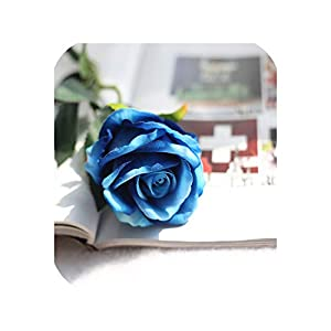 1PC Artificial Flowers Floral Latex Real Touch Rose Silk Flowers Rose Wedding Bouquet Home Decor Party Flowers Bridesmaid,B 85