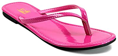 Kali Footwear Women's Twins Basic Patent Flat Thong Sandal