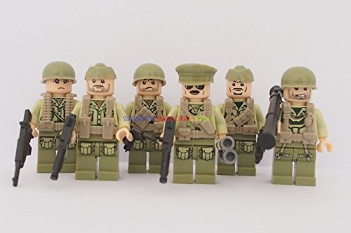 USA Minifigure American Soldier US Army w Vest - Usa Jennifer