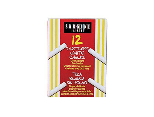 - Sargent Art 66-2012 12-Count White Dustless Chalk