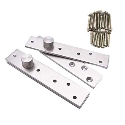 - Sydien 2 Sets 360 Degree Rotation Hidden Stainless Steel Door Pivot Hinges (150x30x4mm)