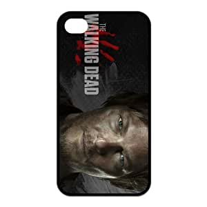 Daryl Dixon The Walking Dead iPhone 4/4s Case Personalized Black Hard Plastic Case iPhone 4/4s Cover Case by runtopwell