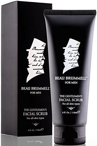 Men s Facial Scrub by Beau Brummell Exfoliating Activated Charcoal Organic Moisturizing Face Cleanser with Natural Essential Oils, Lavender Oils, Peppermint Infusion Deep Condition Cleanse