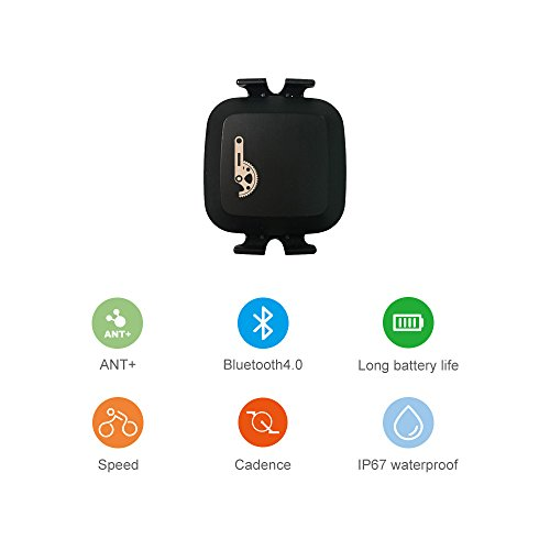CooSpo ANT+ Bluetooth Technology Wireless Waterproof Fitness Tracker Speed or Cadence Sensor ¡­ ()