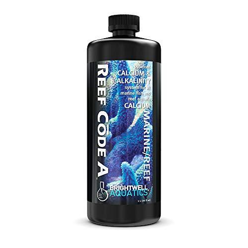Brightwell Aquatics Reef Code A, Balanced Calcium & Alkalinity System for All Marine Fish & Reef Aquaria, 1 Liter