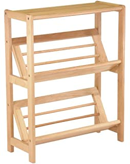 Delightful Winsome Wood 2 Tier Bookshelf, Natural