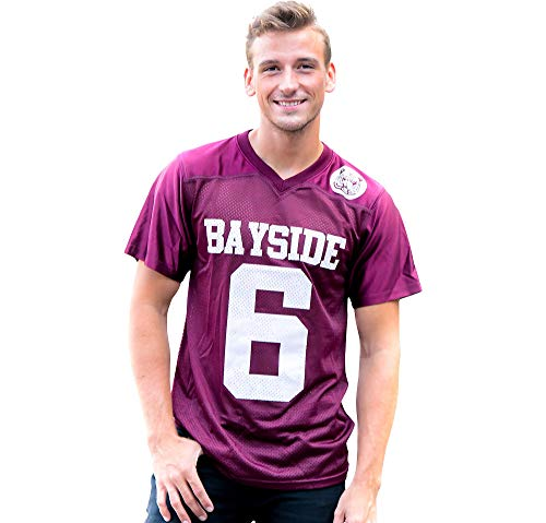 Costume Agent Saved by The Bell AC Slater Bayside Football Jersey for Adults, Large Red -