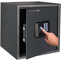 Ultraloq Biometric Fingerprint Safe Keypad Password Lock Safe with Backup Keys …