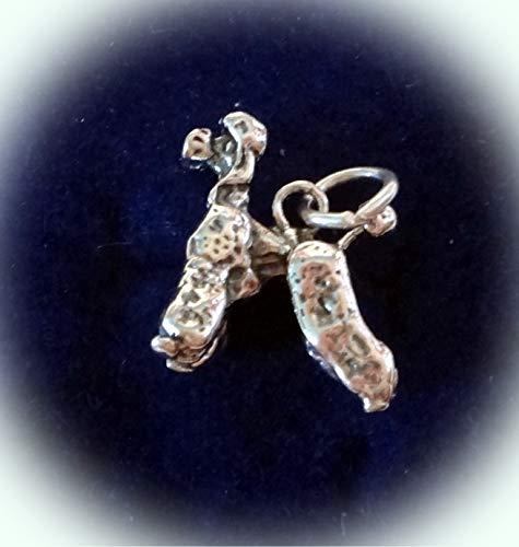 Sterling Silver 3D Solid 19x18mm 4 Gram Standard Poodle Dog Charm Vintage Crafting Pendant Jewelry Making Supplies - DIY for Necklace Bracelet Accessories by CharmingSS