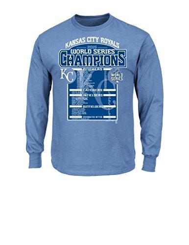 VF LSG MLB Kansas City Royals Men's Long Sleeve Basic Tee, Large, Blue