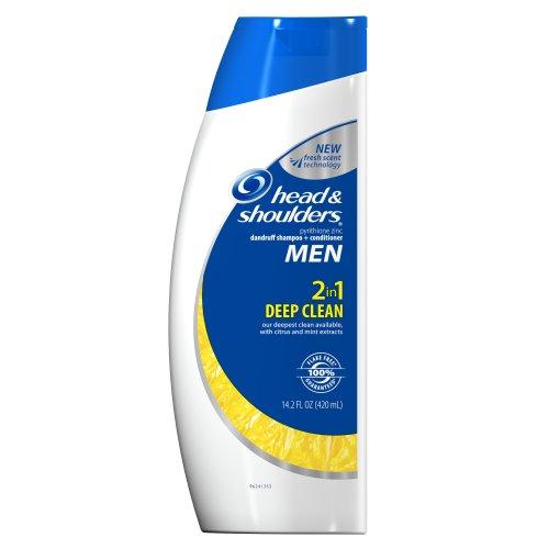 Head & Shoulders hommes Deep Clean 2-en-1 Shampooing + revitalisant 14.2 Fl oz