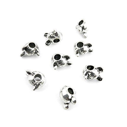 30 Pcs Jewelry Making Charms VAZ09 Mickey Mouse Loose Beads Antique Silver Fashion Finding for Necklace Bracelet Pendant Crafting ()