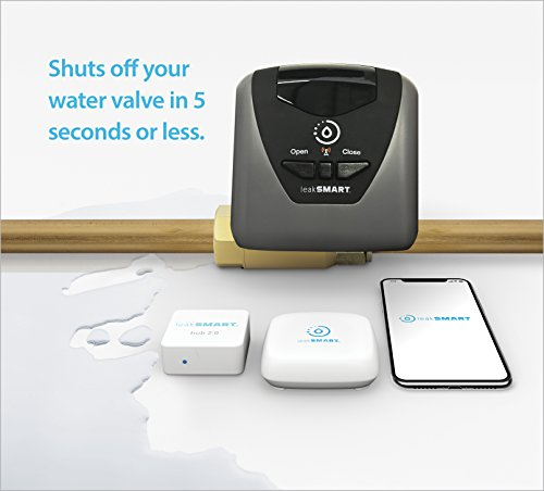 Water Leak Detection System Hub by leakSMART, Smart Hub Links Sensors, Shut-Off Valve and You