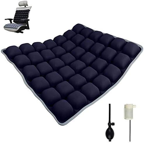 Arcwares Inflatable Seat Cushion, Office Chair Wheelchair Air Seat Cushions for Pressure Relief Buttock Pad Car Cushions for Driving Sciatica Ergonomic Chair Cushion 18''(Navy Blue)