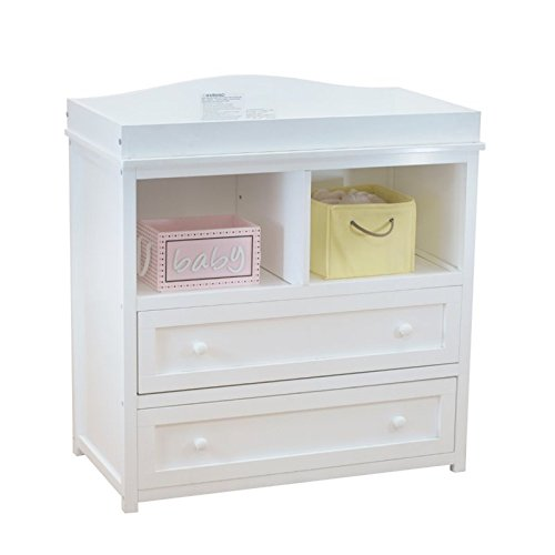 Athena Leila 2 Drawer Changer, White (Changing Table Dresser White compare prices)