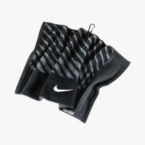 Nike Face/Club Jacquard Golf Towel, Black/White/Dark Grey