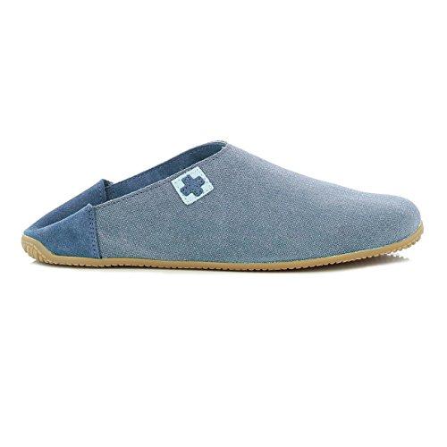 Living Kitzbühel Signora Slipper Croce Blu (jeans)