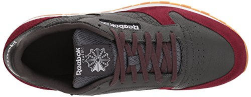Reebok Mens Cl Leather Gi Cross Trainer Carbone / Urban Brown / White Gum