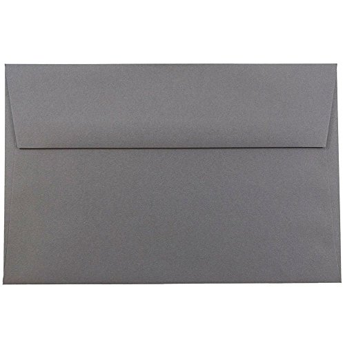 "JAM A9 Invitation Envelopes - 5 3/4"" x 8 3/4"" - Dark Gray..."