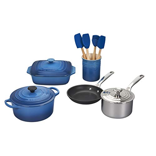 Le Creuset of America MS1912-59 12 Piece Mixed Material Marseille Cookware Set, 12Pc