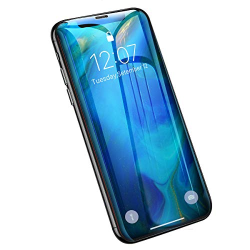 AINOPE [2-Pack][Installation Frame] Screen Protector for iPhone X/Xs, Full Coverage 9H Hardness Tempered Glass Screen Protector for iPhone X/Xs [Sensitive Touch][Bubble Free][Face ID Protection]