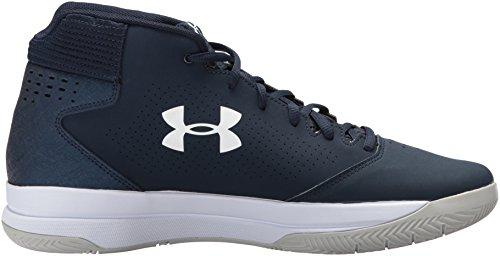 Ua Baloncesto De Jet Armour Para Zapatos Under Cadet Hombre cadet Mid white 1U5Y7q