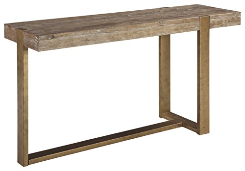 Ashley Furniture Signature Design - Paluxy Casual Sofa or Entryway Table - Light Brown -