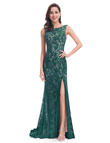 Ever-Pretty Women\'s Sexy Fitted Evening Dress With Open Back and Thigh High Slit 08859