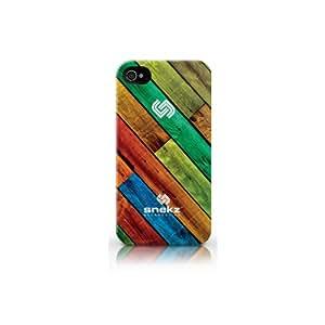 Snekz iPhone 4 4s Hard Gloss Case - Colourful Wood