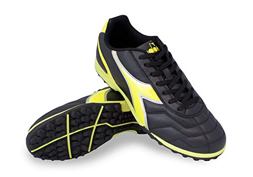Diadora Men's Capitano TF Turf Soccer Shoes (9 D(M) US, Black/Yellow) (Shoes Outdoor Turf Soccer)