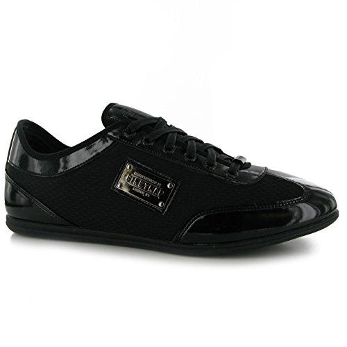 Firetrap DR Bell décontracté Baskets pour homme BLK/BLK Baskets mode Sneakers Chaussures