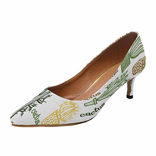 Scarpe Da Donna Low Cost Scarpe Col Tacco Alto Gattino A Punta Svasata Scarpe E Piante Grasse In Vaso Multi 1