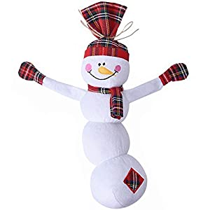 """Christmas Plush Dog Squeaky Toys - EXPAWLORER Cute Xmas Snowman Design Soft and Safe for Small to Medium Dogs Cats Pets Playing 16.5"""""""