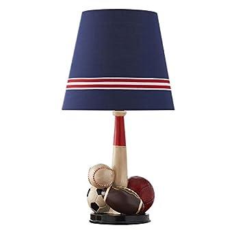 Nordischen Stil Tischlampe Blaue Tuch Lampe Schatten