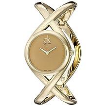 Calvin Klein Women's K2L24509 Enlace Analog Display Swiss Quartz Gold Watch