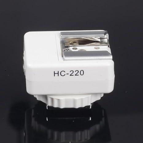 Mcoplus - blanco adaptador de zapata de Flash de carga y ...