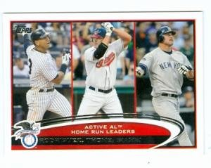 2012 Topps #91 Active Home Run Leaders Alex Rodriguez Jim Thome Jason Giambi