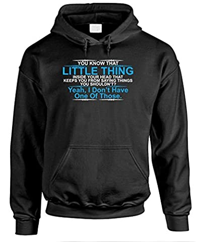 YOU KNOW THAT LITTLE THING - sarcasm rude - Mens Pullover Hoodie, 2XL, Black - Thing Mens Hoodie