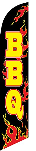 BBQ (barbque) Feather Banner Swooper Flag - NO WIND REQUIRED - Replacement FLAG ONLY