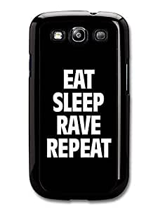 AMAF ? Accessories Eat Sleep Rave Repeat Calvin Harris Writing case for Samsung Galaxy S3