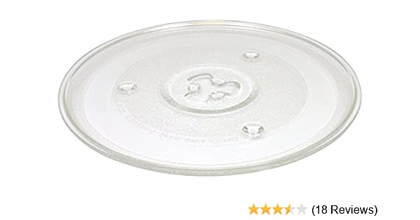 HapWay Small 10.5//27cm Microwave Glass Plate Replacement, Microwave Glass Turntable Tray Replaces,Compatible with Emerson P23, Hamilton Beach, Sunbeam, Magic Chef etc