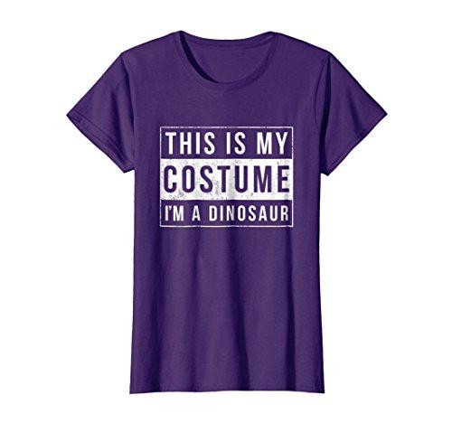 Womens I'm a Dinosaur Halloween Shirt Easy Costume Idea XL Purple ()