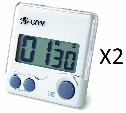 Cdn Loud Alarm Digital Kitchen Timer Counts Down/Coffee/French Press (2-Pack)