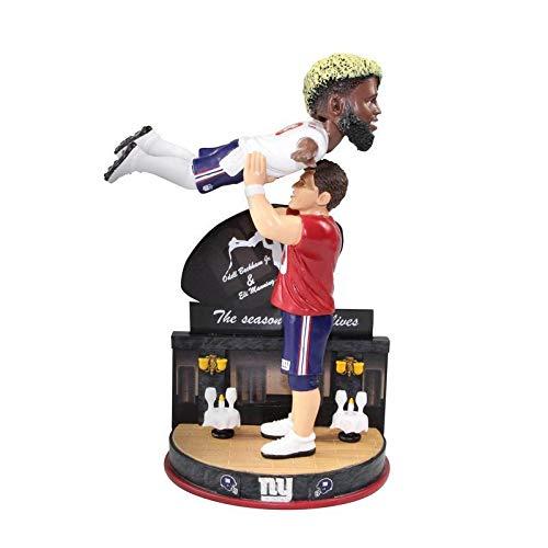 FOCO Eli Manning and Odell Beckham New York Giants Eli Manning and Odell Beckham Dancing Bobblehead NFL