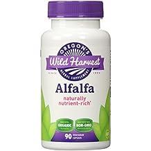Oregon's Wild Harvest Alfalfa Organic Supplement, 90 Count vegetarian capsules, 1200mg organic alfalfa tops
