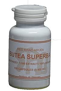 Tongkatali.org's Butea Superba Extract 1:100 100 Capsules 400 mg